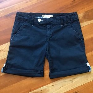 Anthropologie Hei Hei Navy Blue Roll Up Shorts